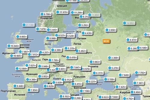 Карта цен Москва Хельсинки, фото