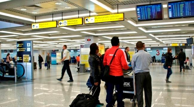 Большую часть регулярных рейсов обслуживает Терминал №2