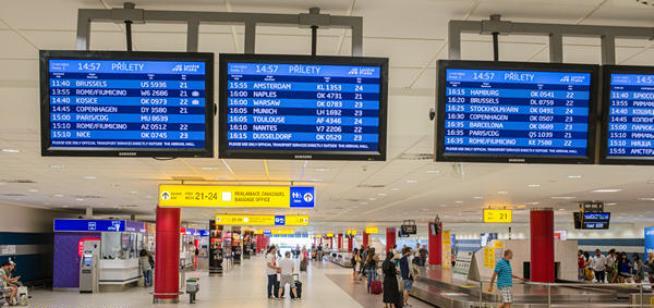 Аэропорт Праги внутри