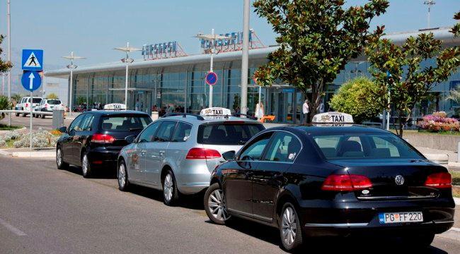 Такси в аэропорту Черногории, Подгорица