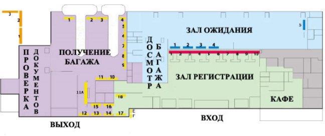 Схема аэропорта Тиват, Черногория