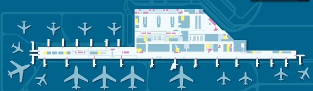 Схема аэропорта Шопена, Варшава