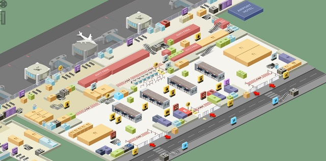 Схема терминала аэропорта Стамбула Сабиха Гекчен, зал вылета