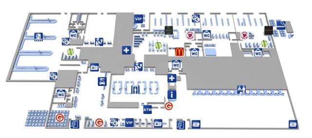 Схема аэропорта Варна