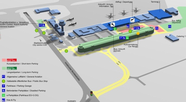 Схема аэропорта Зальцбург