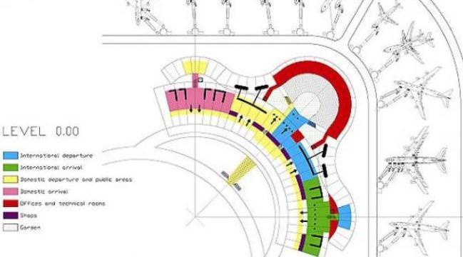 Схема терминала аэропорта Гоа Даболим