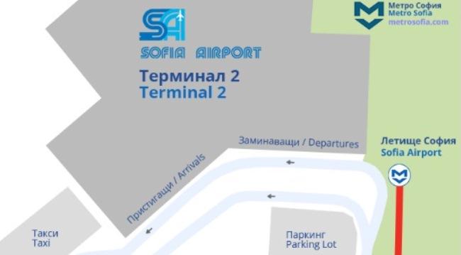 Схема терминала №2 , аэропорт София