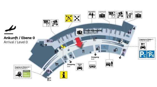 Схема аэропорта Вены Швехат