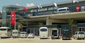 Аэропорт расположен в 16 км от городка Миляс и в 36 км от курорта Бодрум