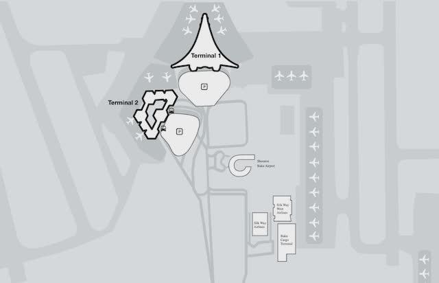 Схема аэропорта Баку
