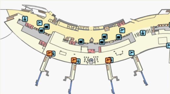 Схема аэропорта Валенсии, 1 этаж