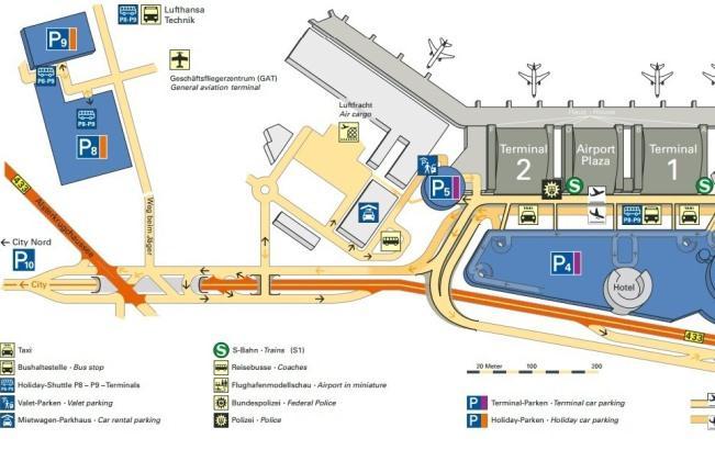 Схема международного аэропорта Гамбурга