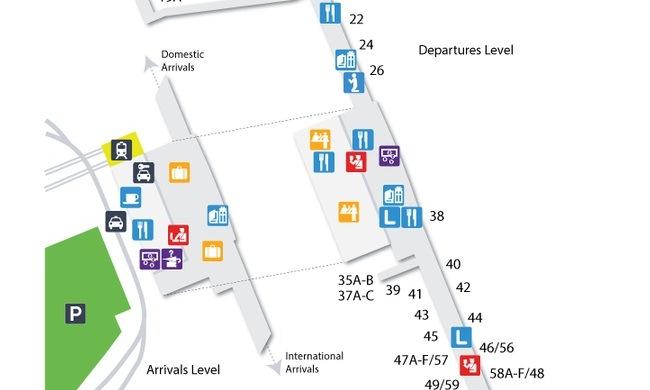 схема аэропорта Осло