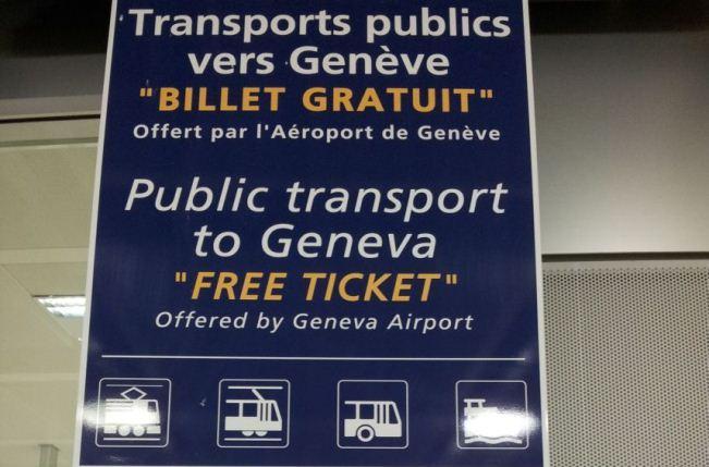 Bilet Gratuit в Женеве