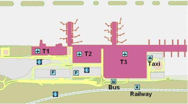 Схема аэропорта Малага