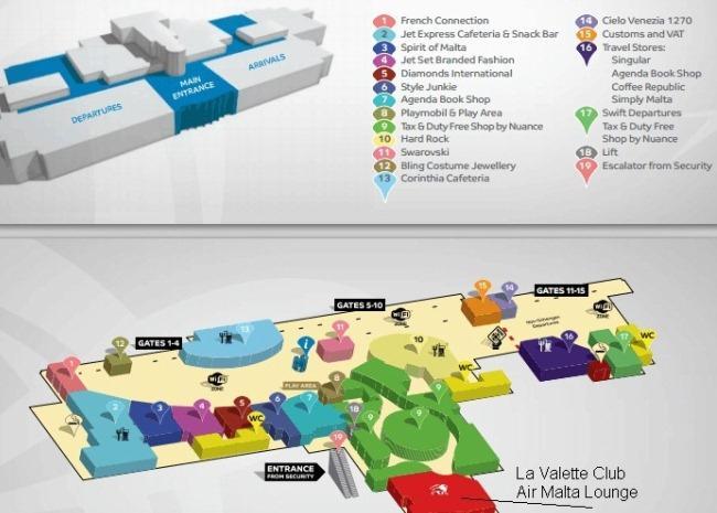 Схема аэропорта Мальты