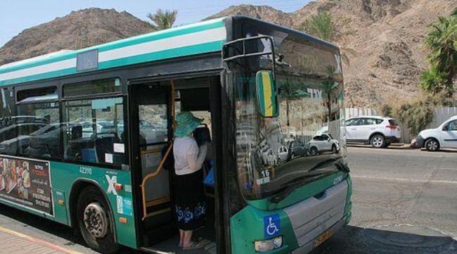 Из аэропорта до города Эйлат автобусом