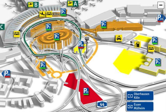 Схема аэропорта Дюссельдорф