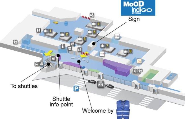 Схема аэропорта Брюсселя 1
