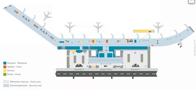 Схема аэропорта Гамбурга