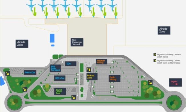 Схема аэропорта Загреба Плесо