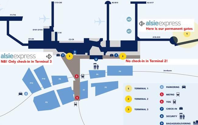 Схема аэропорта Каструп