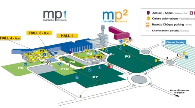 Схема аэропорта Марсель Прованс