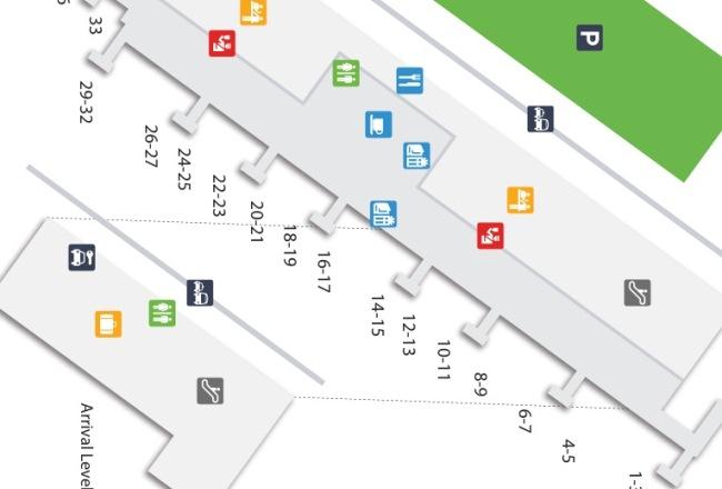 Схема аэропорта Тенерифе
