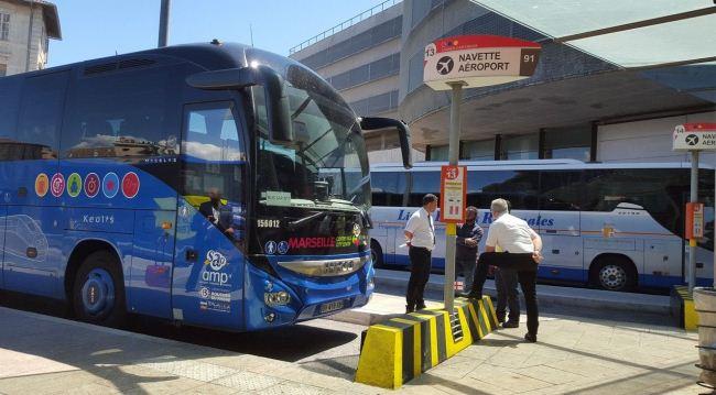 Автобусы в аэропорту Прованс