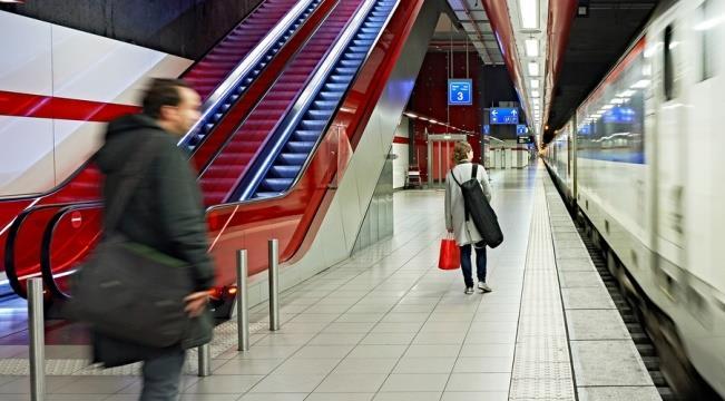 Из аэропорта Брюсселя на поезде