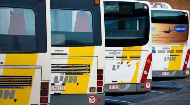 автобусы компании De Lijn из аэропорта Брюсселя