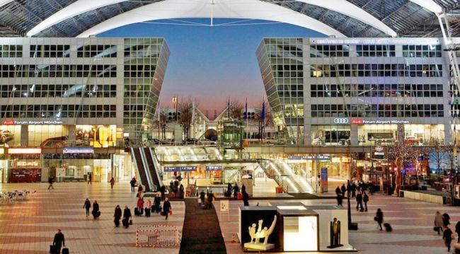 Вечерний аэропорт Мюнхена