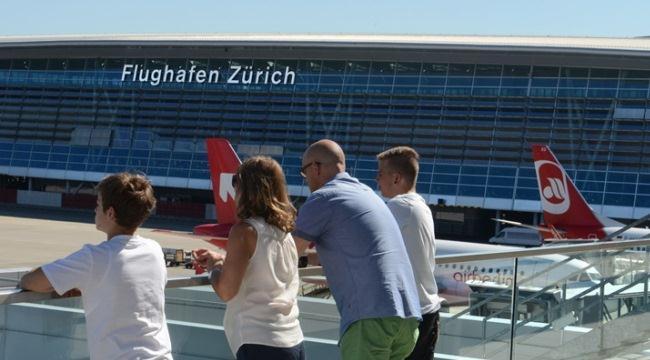 Смотровая площадка в цюрихском аэропорту