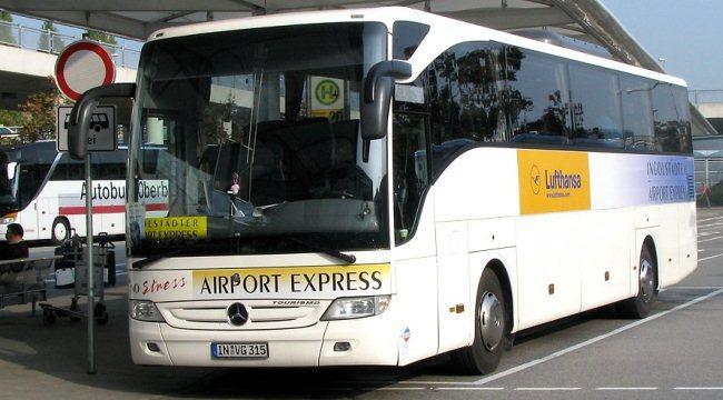 lufthansa express bus в мюнхенском аэропорту