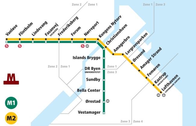 Станции метро в Копенгагене