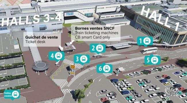 План автобусных остановок