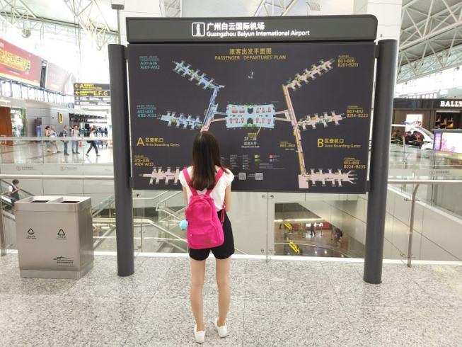 Схема аэропорта Гуанчжоу