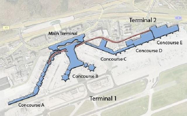 Схема аэропорта Франкфурт-на-Майне