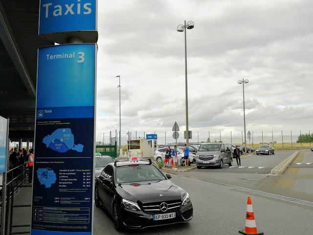 Такси в аэропорту Парижа