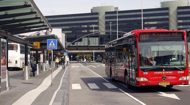 Автобус №197 в аэропорту Амстердама