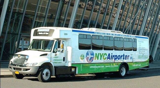 из аэропорта Нью-Йорка на автобусе