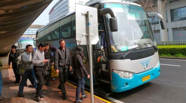 Из аэропорта Пудун до аэропорта Хунцяо автобусом