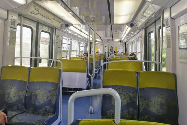 Интерьер поезда RER