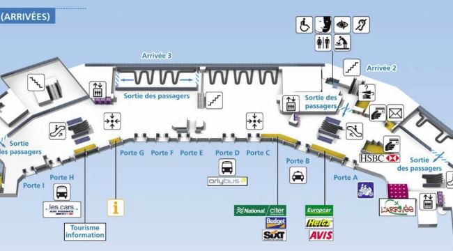 Схема аэропорта Париж-Орли