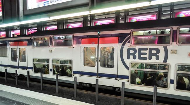 ж/д станция RER в Париже