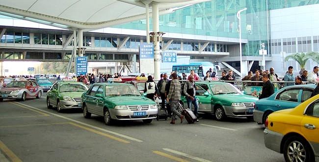 из аэропорта Гуанчжоу на такси