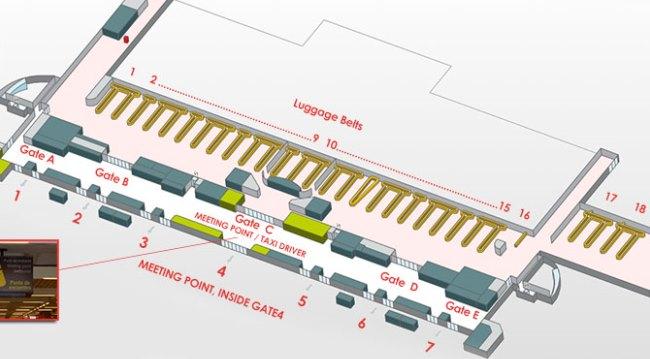 Схема аэропорта Пальма-де-Мальорка