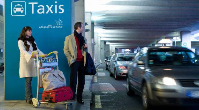 Такси в парижском аэропорту Шарль де Голль