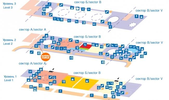 Схема Аэропорта «Пулково-1»