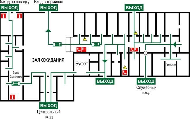 Схема аэропорта Минеральный Воды